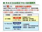 ノンフロン自然冷媒R443Aとフロン排出抑制法(フロン法)